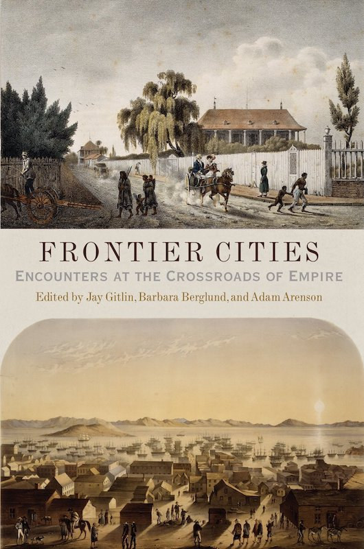 """book cover to """"Frontier Cities"""""""